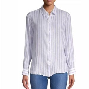Rails Sydney Button Down Striped Top